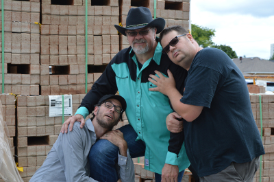 The Beat Heathens posed for a photo on Sept.6 after their performance at the First Annual Kerr Festival.