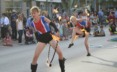 Fire dancers performed at the First Annual Kerr Festival on Sept.6.