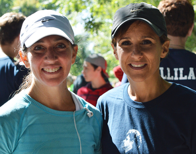Pamela Torane and Tara Moonje finished the Terry Fox Run on Sunday, Sept.14.