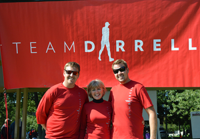 Brothers Davin and Rylan Atherton, and their mother Joan Atherton were all present at the Team Darrell tent on Sunday, Sept.14 at the Terry Fox Run.