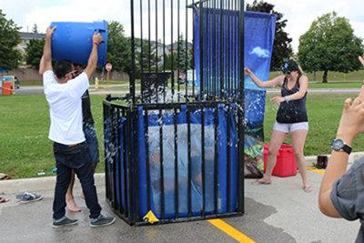 Sheridan student union president, Jenna Pulver, accepts Ice Bucket Challenge.