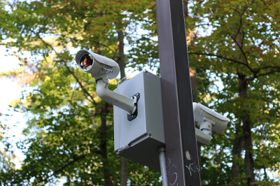 Nowhere to hide: Security cameras now watch the trails in the woods, scanning for signs of trouble.