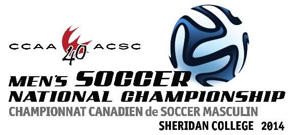 2014 CCAA Men's Soccer Championship Logo