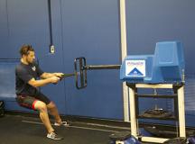 Sheridan's Alexander Dukovski powers through the PREP test's push exercise.