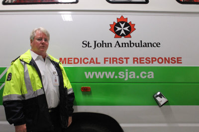 Alan Blundell, 53, trained in management from Sheridan in the 1990s. He has worked with VWR International as nation logistics manager for 25 years and has volunteered with St. John Ambulance for 14 years / Photo by Mehreen Shahid / The Sheridan Sun