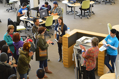 Frequent tours began near the Scaet building and concluded at the Learning Commons. There were further opportunities to explore different areas of the campus more thouroughly.