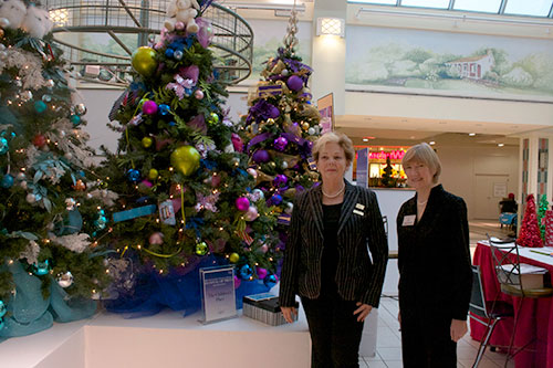Beth Christie, left, and Lori Sims, right, members of the May Court Club of Oakville, are running the Festival of Trees