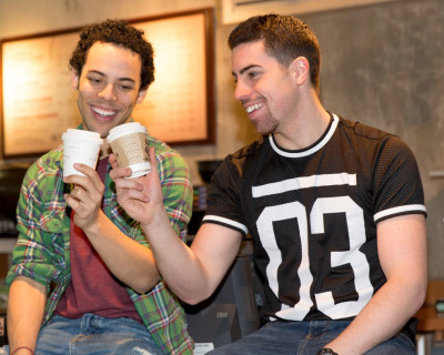 From left, JJ Gerber who plays Benny and Alex Kelly who plays Us Navi, in the musical.