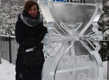 Jennifer McKeon, from Chatham it's 1 hour west of London, thought it would be interesting to see the ice sculptures and watch them sculpt, not something you get to see everyday.