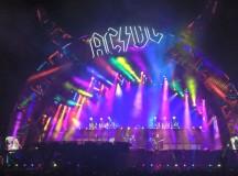 AC/DC's dazzling light show.