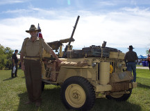 Adam Everingham with his 1941 Jeep