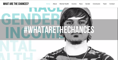 The #whatarethechances? project is the sole Canadian finalist in the Student Projects, Large award.