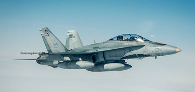 The CF-18 Hornet, part of the $528 million used in Canada's bombing campaign in Syria. (Photography by aff Sgt. Benja)