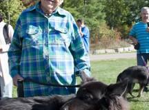 Former Mississauga Mayor Hazel McCallion visited the Dog Fest with her Shiloh shepherd Missy.