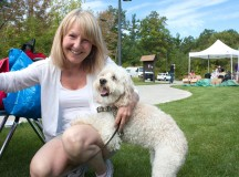Anne Gillespie, the owner of Creature Comforts Pet Services, brought along one of her clients, Coco.