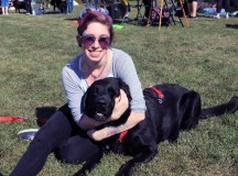 Cait Kerns and her dog Vader soaking up the sun.