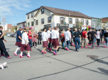 About 140 men walked down Lakeshore in support of Hope in High Heels event in Oakville.