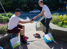 Men trade shoe sizes for comfort at Halton Women's Place Hope in High Heels event on Sept. 27 2015.