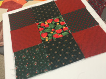 An example of a 9-patch quilt block ( Photography by Courtney Blok / The Sheridan Sun)
