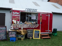 A coffee truck was available to wake up the guests before exploring Harvest Halton 2015.