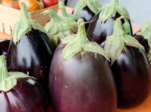 The eggplants at the Simply Local Farmers Market.