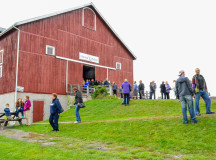 Food, beer and wine samples were held in the main barn provided by Ritorno, Ristorante Julia, Liason College, Latitude Food and Drink, Alemillia Hospitality Group, Uncorked on Main, Riposta Bistro and Mohawk Chop House.