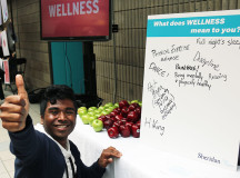 Justin Sookram, a third-year Marketing and Advertising student, shares what wellness means to him at the Trafalgar event.