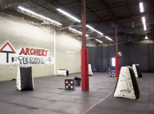 Archery Terminal's facility is indoors and has a lot of space to accommodate up to 24 people.