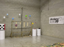 This is Archery Terminal's training area where players practice and hone their skills