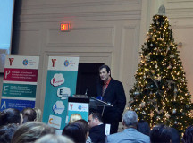 Kyle Barber, president and CEO of YMCA of Oakville closes the Community Breakfast for Peace with some final words about empathy.