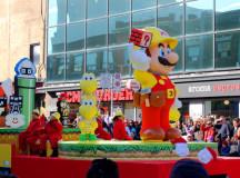 Super Mario leveling up.