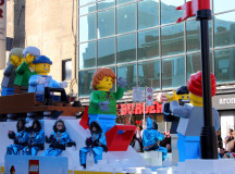 A sure to be popular Christmas toy, giant  lego figures.