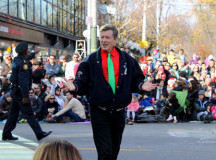 Toronto Mayor John Tory properly attired chatted with the crowds.