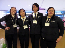 Emily O'Gorman, Marianne Sy-Lucero, Jeryl Torres, Melissa Collela: Sheridan's Quiz Bowl team.