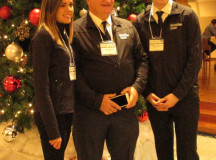 Camila Lobos and Jonathan Sharpe, Retail team, with Allan Linklater.