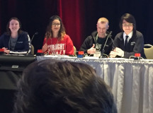 Jeryl Torres takes to the Quiz Bowl stage to represent Sheridan