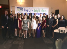 The Sheridan Pilon School of Business students and coaches were dressed to the nines for Friday night's award ceremony.