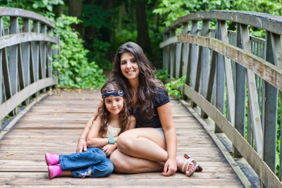 Michelle Candelaria, Early Childhood Leadership student with her daughter, Lydia. Photo courtesy of Michelle Candelaria.