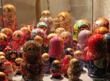 Russian dolls (Matryoshka) sold at vendor.