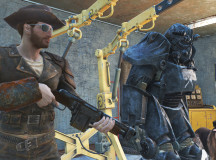 "Set up a personal garage to store your weapons, resources and armor. Find fan favourite, ""Dogmeat"" at the Red Rocket café."