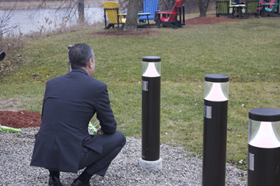 Sheridan President Jeff Zabudsky, paying his respects to one of the victims of the Ecole Polytechnique Massacre. Photo taken by Mike Melro.