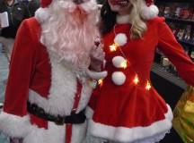 It isnt a convention without someone dressing up as a zombie. These two cosplayers found their inspiration from the holiday classics, Santa and Mrs. Claus.