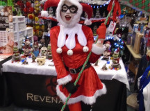 There were several different versions of  characters at the Holiday Expo. This Christmas Harley Quinn was one of several who attended the event.
