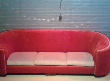 Andy's funky red couch.