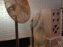 Some rusty fans.