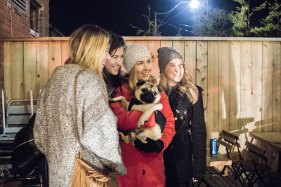 Locals, friends, and fans stepped onto the Northern Belle coffee shop patio in Toronto to get one-on-one time with the pup, his humans, and their friends.