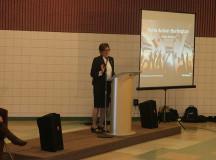 (Liberal MPP of Burlington Eleanor McMahon addresses the crowd)