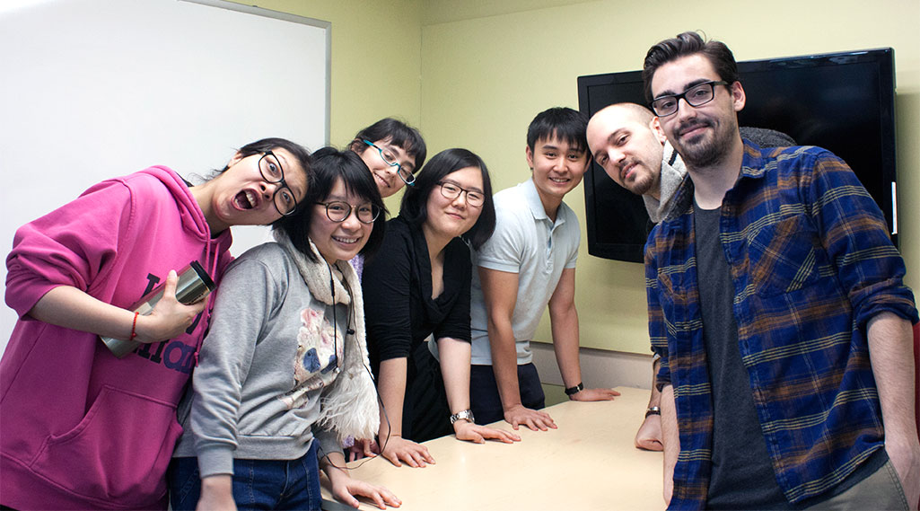 The group, also known as Studio Kokorosh, are nominated for an Annie Award. From left: Rui Hao, Stephanie Chiew, Ana Gomez, David Du, Joan Chung, Nick Nason and Matthew Fazari