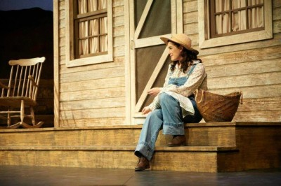 Julia McLellan performing in Sheridan's production of Oklahoma during her third-year in the Theatre program . Photo courtesy of John Jones.