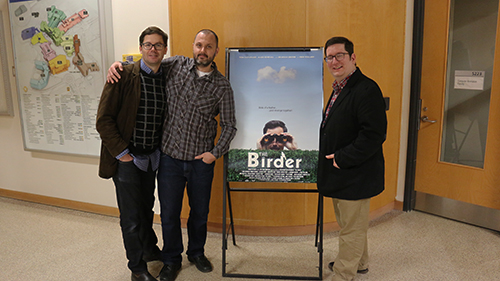 From left to right: co-producer Mike Stasko, lead producer Gerry Lattmann and director Ted Belzaire at the film screening in the SCAET wing. Photo by Mark Elgie